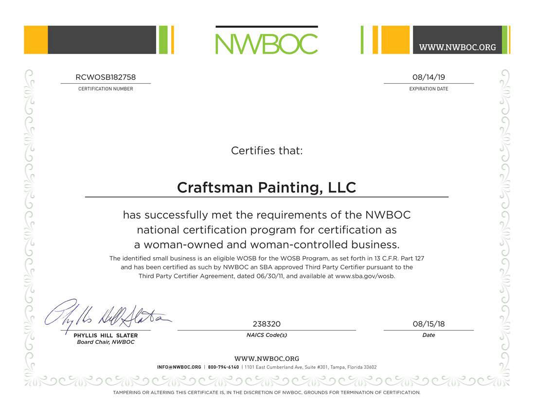NWBOC Certificate